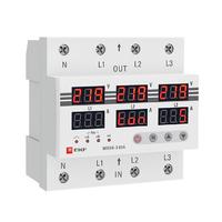 Реле напряжения и тока 63А 3 фазн.  EKF