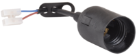 Шнур с патроном (пластик черный Е27)   ИЭК