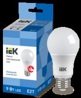 Лампа LED Е27 9W 6500 A60 шар   ИЭК