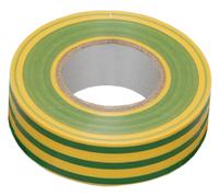 Изолента ПВХ ИЭК желто/зеленая