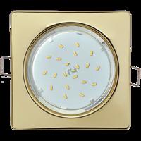 Свет-к ЛВО-11 GX53 H4  квадрат плоск. золото Ecola