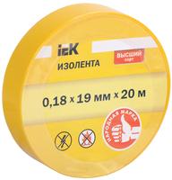 Изолента ПВХ 0,18х19 желтая   ИЭК