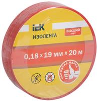 Изолента ПВХ 0,18х19 красная   ИЭК