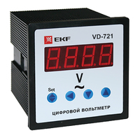 Вольтметр VD-721 цифровой на панель (72х72) 1ф  EKF PROxima