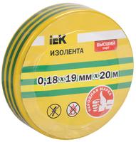 Изолента ПВХ 0,18х19 желто-зеленая   ИЭК