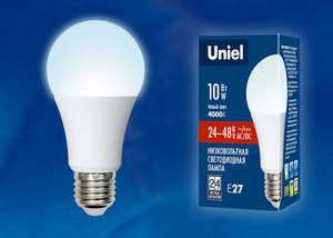 Лампа LED Е27 10W 4000 А60 24-48V Uniel, 5004