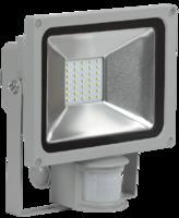 Прожектор светодиодный СДО05-30Д 30W IP44 6500К с ДД  серый   ИЭК