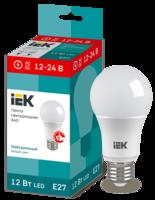 Лампа LED Е27 8W 4000 А60 12-24V   ИЭК